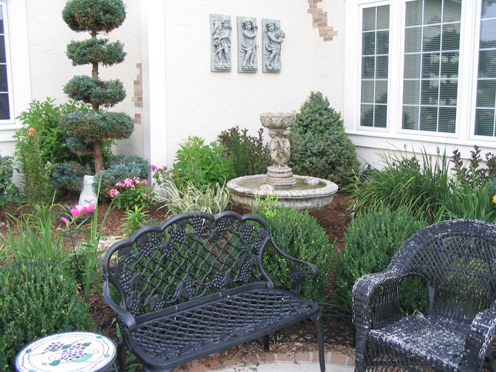 make cozy rooms by landscaping